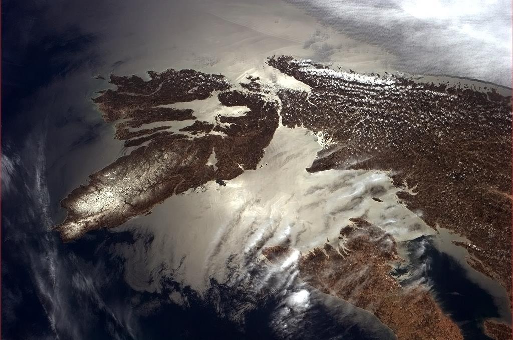 Mys Breton na ostrově Nové Skotsko.