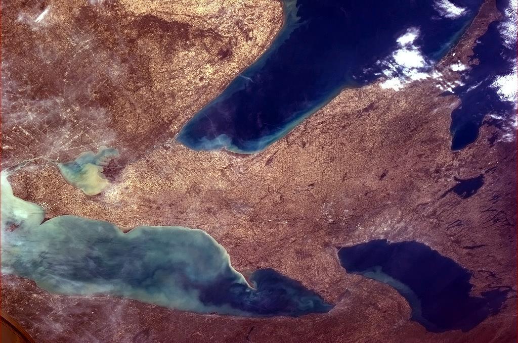 Tři Velká kanadská jezera - Hurónské, Erijské a Ontario