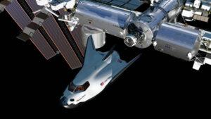 Dream Chaser u Mezinárodní vesmírné stanice