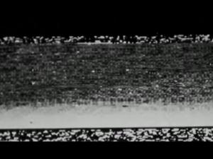 Prvá fotografia urobená z povrchu Marsu. Nie je na nej vidieť žiadne detaily, čo vtedy podporilo teóriu v kvapalnom marsovskom povrchu.