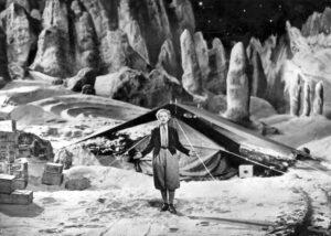 Obrázek z filmu Žena na Měsíci, tomuto filmu dělal Oberth technického poradce.