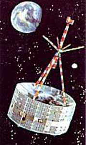 Ilustrace satelitu HEOS.