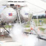 test motoru proháněného kapalným dusíkem zdroj: nasa.gov