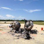 Havárie prvního exempláře landeru Morpheus zdroj: nasa.gov