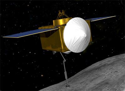Sonda u asteroidu Bennu v představách umělce