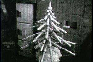 Tento vianočný stromček si zhotovila posádka Skylab 4.