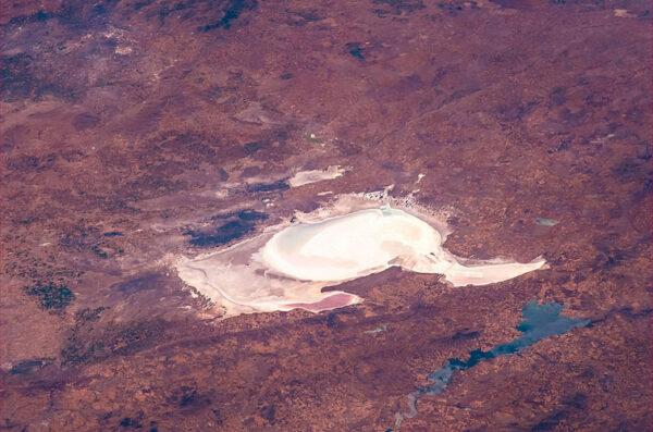 Vyschlé jezero v Turecku.