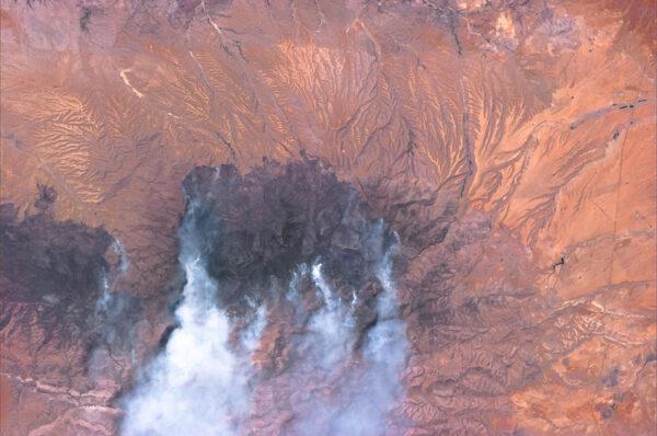 Lesní požáry v Mexiku u města Sonora
