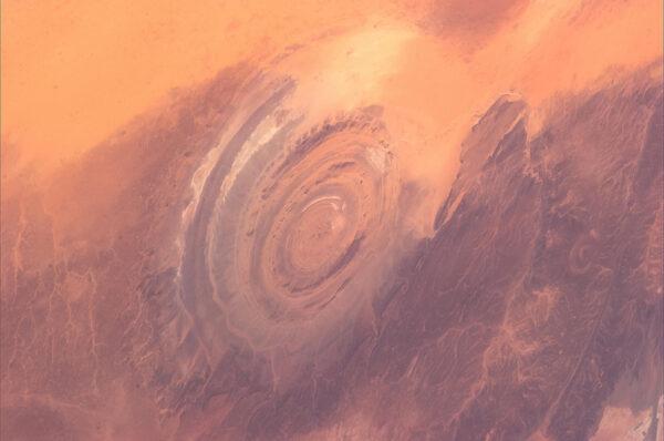 Působivý útvar v Mauretánii.
