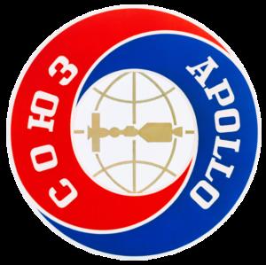 Sovietsky znak Sojuz-Apollo.