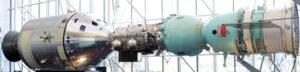 Replika súlodia Apollo, Sojuz a prechodová komora.