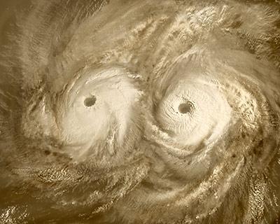 Atmosférické víry nad severným pólom Venuše.