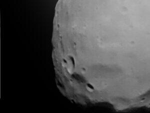 Fotografia Fobosu vytvorená sondou Fobos-2.