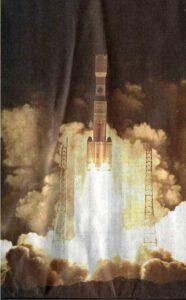 Raketa H-2B krátko po štarte.