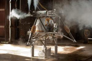 Testování připoutaného landeru zdroj: nasa.gov
