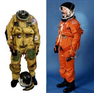 Porovnání obleku U.S.Air Force S1034 a ACES zdroj:nasa.gov
