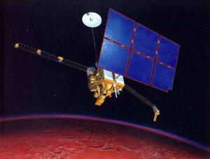 Trajektória, po ktorej sa Mars Observer vydal k Marsu.