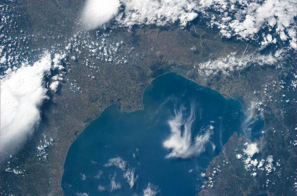 Opět Benátky. Tentokrát ovšem v širokoúhlém provedení - takhle nějak vidí astronauti krajinu pod sebou.