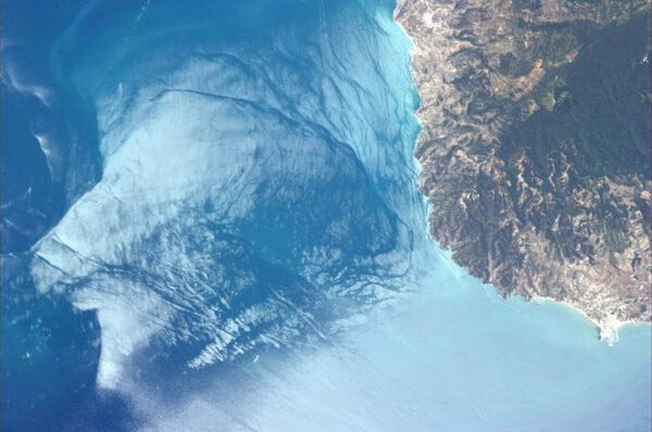 """Detailní pohled na """"patu"""" Apeninského poloostrova"""