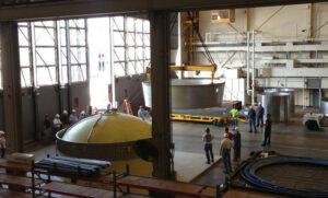 Zkouška adaptéru, který při misi EFT-1 umožní propojení rakety Delta IV Heavy s kosmickou lodí Orion.