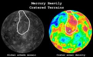 Oblast nejstaršího povrchu na Merkuru