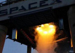 Test prvního stupně Falcon 9 v1.1 s motory Merlin 1D