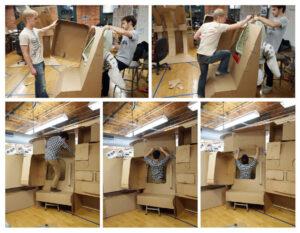 Testování na kartonových maketách zdroj:ansoncheungdesign.com