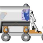 Schéma nastupováání do skafandru zdroj:upload.wikimedia.org