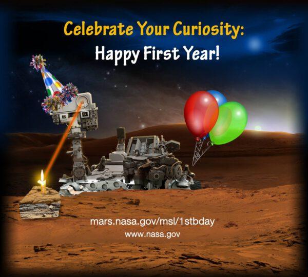 6.8.2013- Curiosity slaví první rok na Marsu