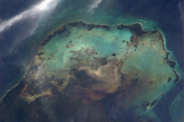 Jedna z mnoha lagun v Karibiku