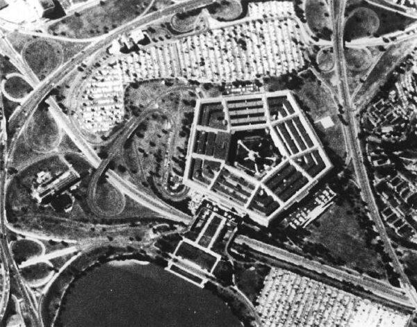 Takto vyfotil v roce 1967 satelit série Corona americký Pentagon.
