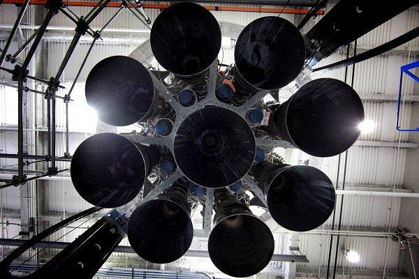 Motorová sekce Falconu 9 v1.1