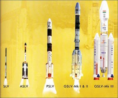 Všetky indické rakety. Posledná ešte neletela. Jej štart je plánovaný približne okolo roku 2015.