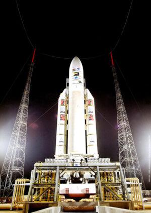 Impozantní Ariane 5 je připravena ke startu číslo 162.