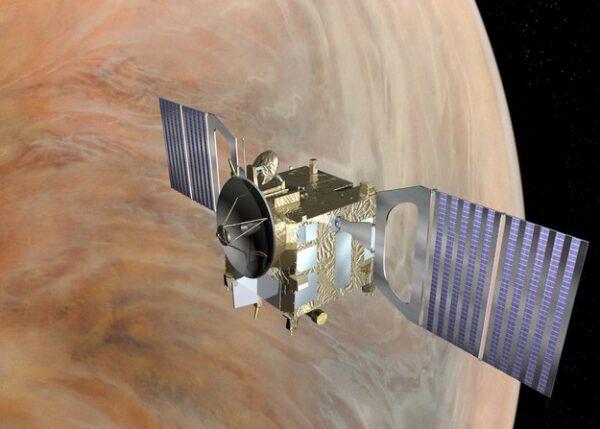 První evropská sonda na oběžné dráze Venuše.