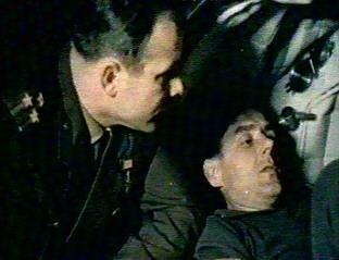 S Vladimirem Komarovem při výcviku na misi Sojuz-1