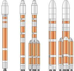Jednotlivé verzie rakety CZ-5.