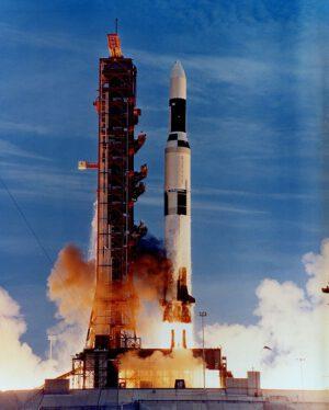 Start stanice Skylab na raketě Saturn V.