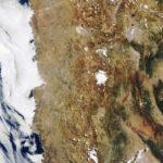 Poušť Atacama, pohled z vesmíru. Pořízeno Envisatem 4.března 2012 zdroj:esa.int