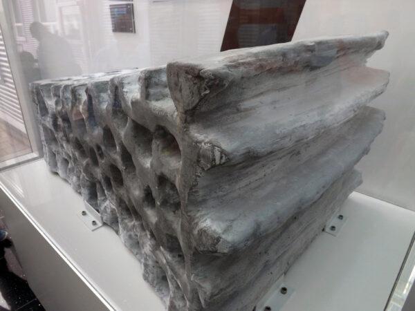 Blok vytištěný 3D tiskárnou