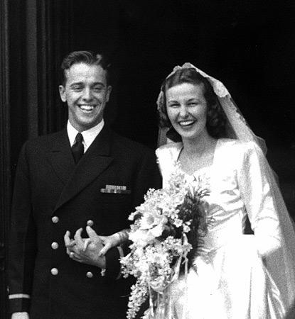 Novomanželé Alan a Louise Shepardovi