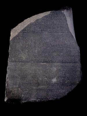 Rosettská deska objevená roku 1799.
