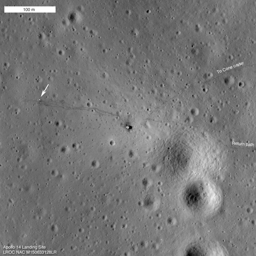 I takto vypadá nesmrtelnost: stopy Ala Sheparda a Eda Mitchella zůstanou na měsíčním povrchu zřejmě navždy...