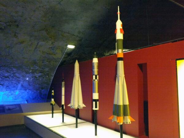 V Kopuli si na své přijdou i fanoušci kosmonautiky. O modely raket tu nouze není.