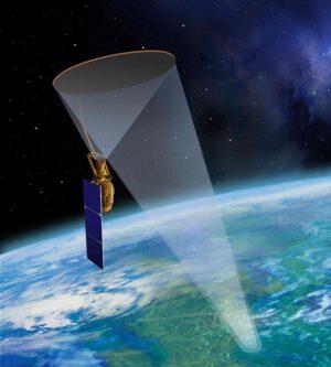 Umělecká představa americké družice SMAP
