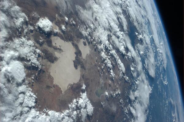 Bolivijské jezero Poopo