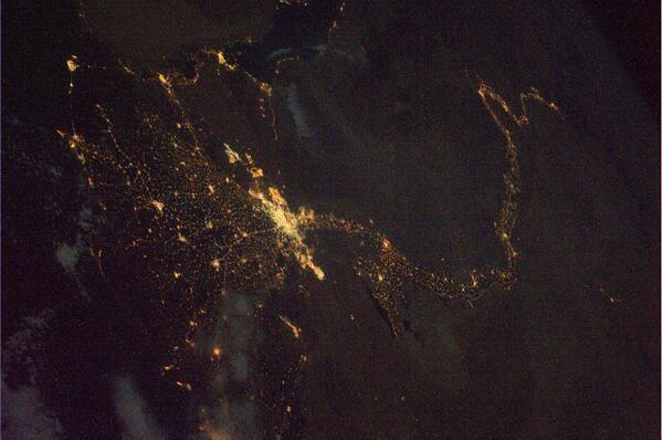 Nil podruhé - tentokrát pohled ze severu a v noci