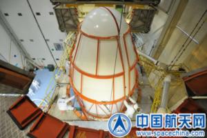Aerodynamický kryt ukrývající sondu Chang'e-3