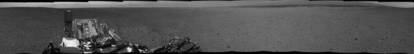 Sol 24 - Panorama vytvořené ze snímků kamer NavCam