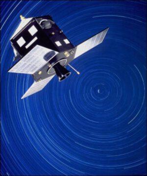 Astrometrická družice Hipparcos. Předchůdce Gaiy.